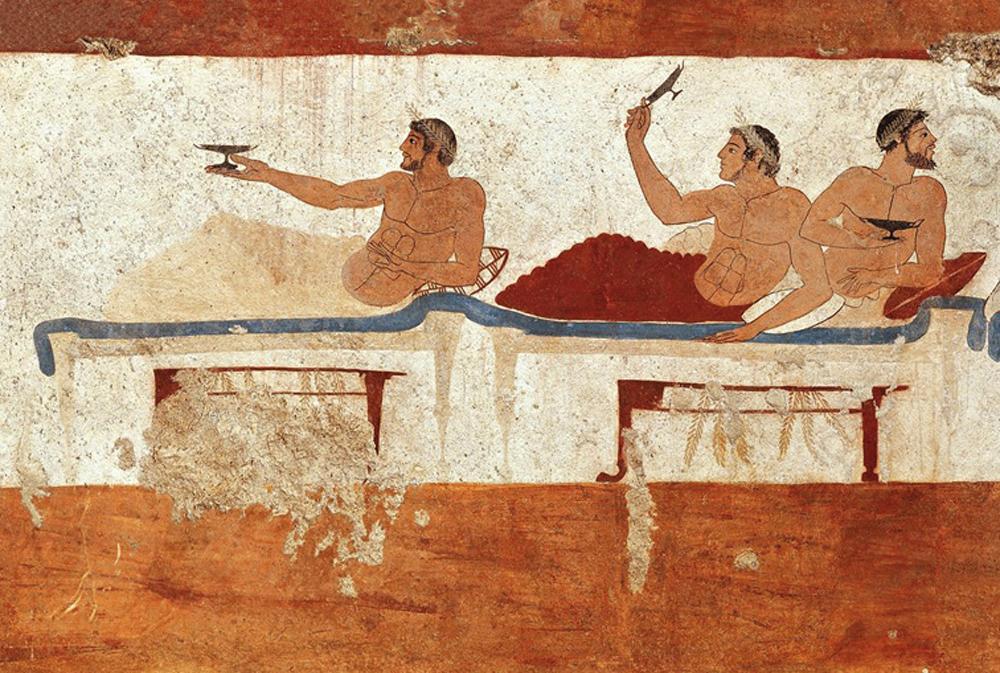 Sibaris koloniako biztanleak, alegia sibaritak. (Irudia: Paestum Museo Arkeologikoa)