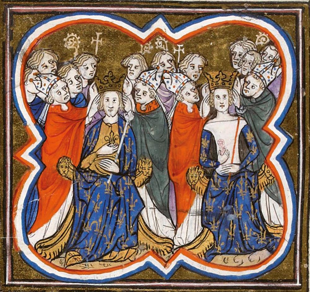 Filipe VI.a eta Joana Burgundiakoaren koroatzea 1328ko maiatzaren 29an.