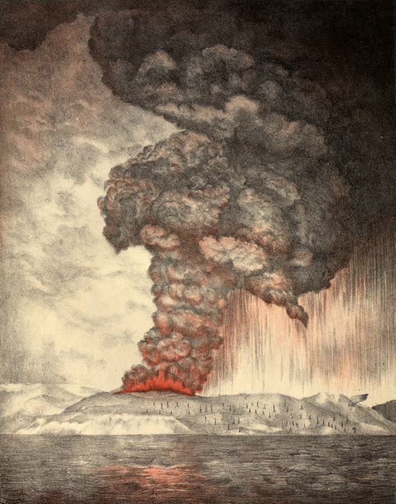 Krakatoa sumendia. (Irudia: Parker & Coward)
