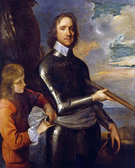 Oliver Cromwell (1599-1658), Eguberria ospatzeko debekuaren bultzatzaile nagusia.