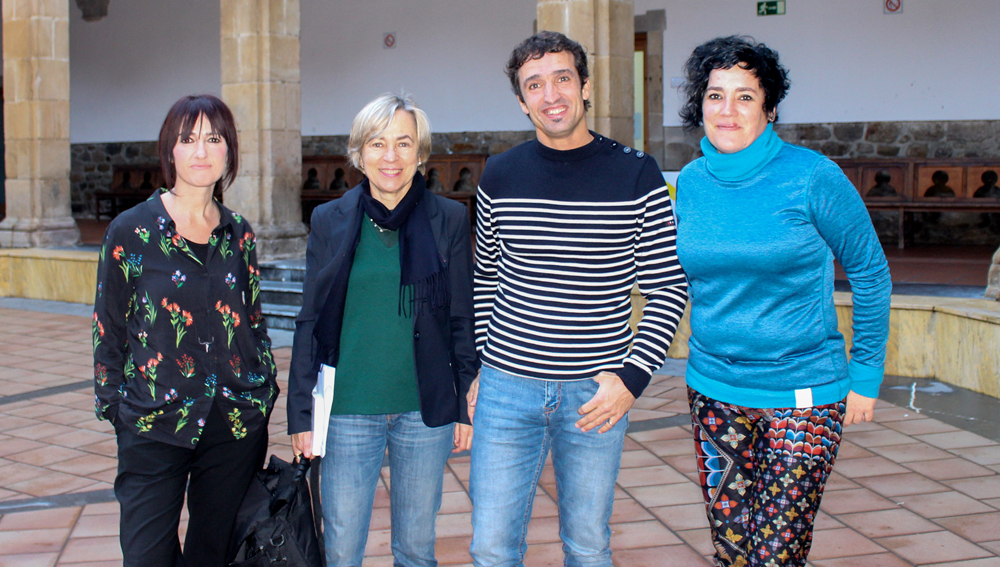 Ane Ablanedo, Nerea Alzola, Xabier Sarasua eta Nora Salbotx.