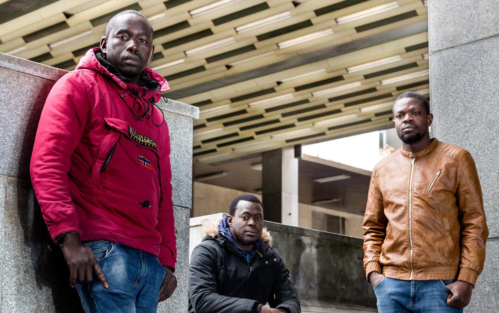 Ezker-eskuin: Baba Mbaye, Boubacar Diouf eta Khadim Sambe (Argazkia: Dani Blanco)