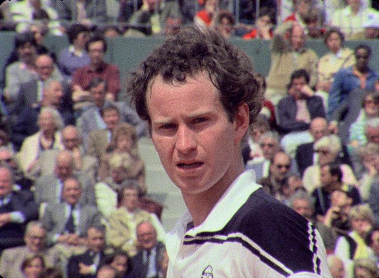 John McEnroe tenislariaren mugimenduak, keinuak eta begiradak baliatzen ditu 'L'empire de la perfection' dokumentalak.