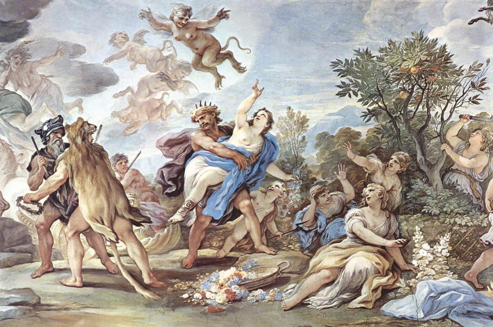 Luca Giordanoren 'Persefoneren bahiketa'. Persefone Hades azpimunduko jainkoak bahitu eta bortxatu zuen eta hori ez da, inolaz ere, mitologia klasikoko bortxaketa kasu bakarra.
