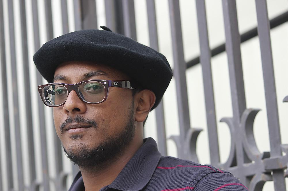 Waran Kangeyan, Londresen bizi den tamila. Argazkia: Zaldi Ero.