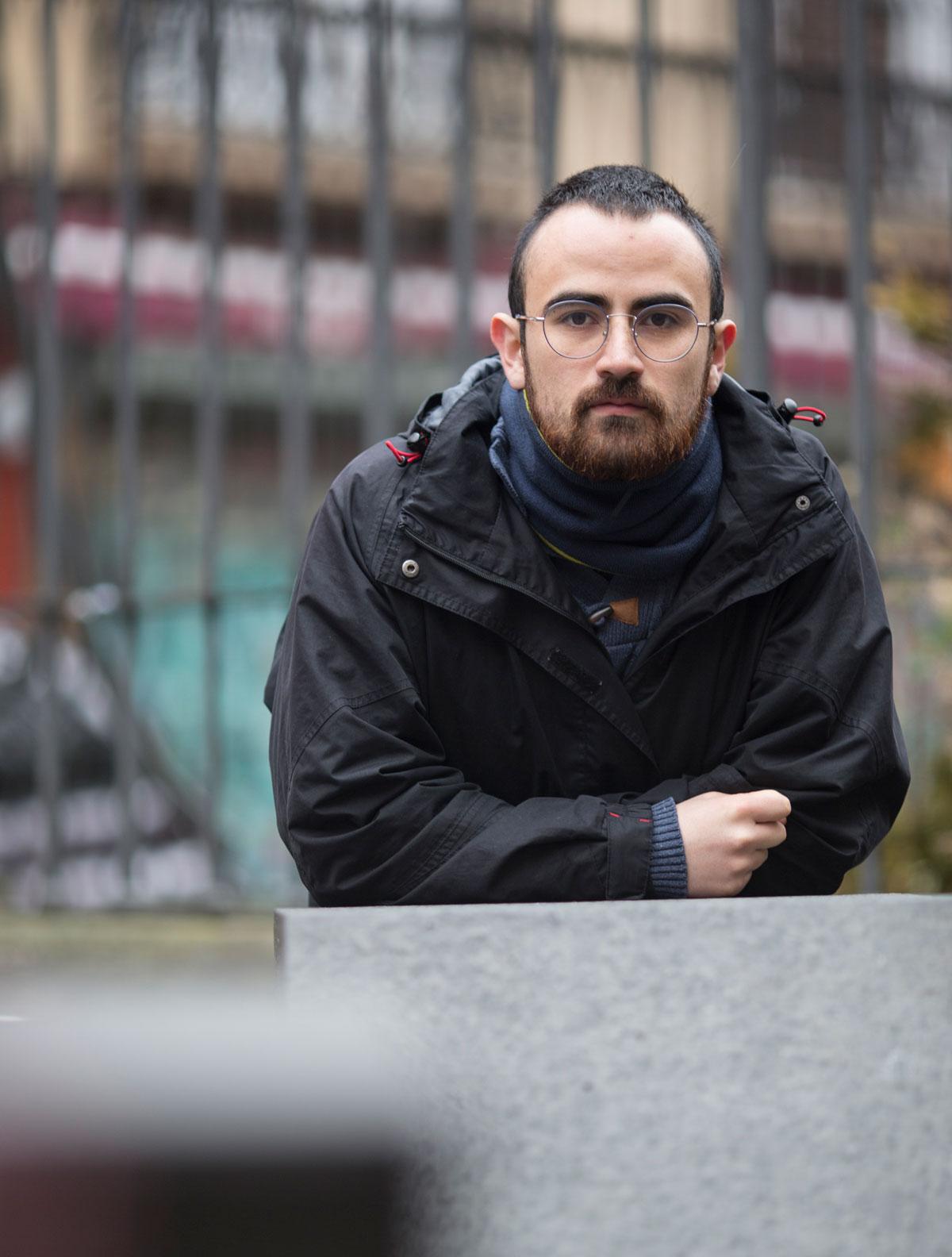 Mateo Gutierrez Leon, iheslari politikoa da eta Euskal Herrian asilo bila ari da. (Argazkia: Dos Por Dos)