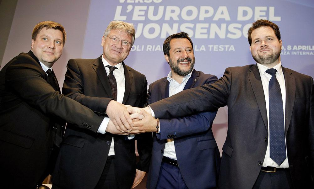 Finlandia, Danimarka, Alemania eta Italiako eskuin muturreko alderdiak batu dira Europako hauteskundeetarako.