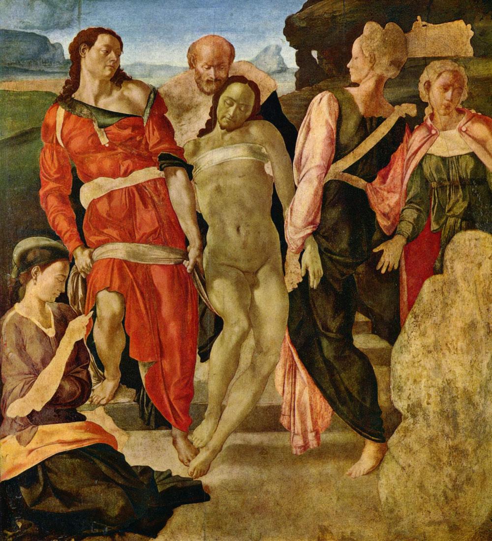 Michelangeloren 'Ehorzketa Santua' bukatu gabea (arg: National Gallery)