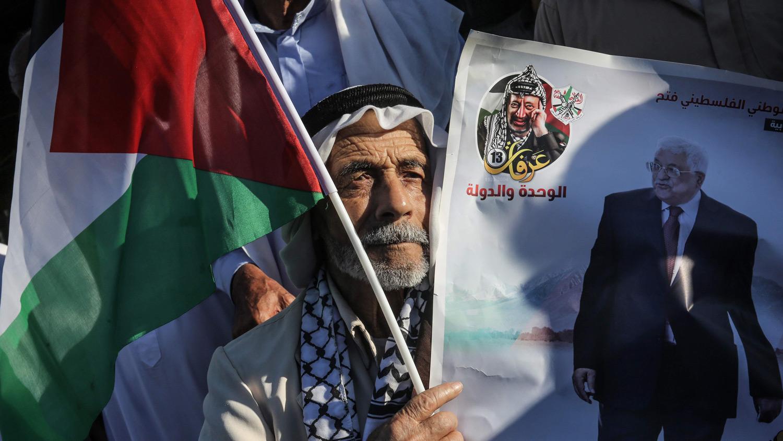 Anexioaren aurkako protestak Gazan. Argazkia: AFP